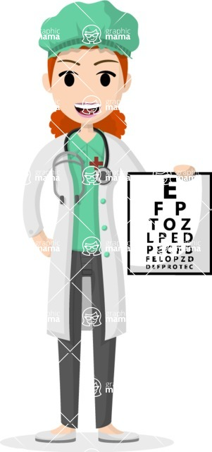 My Career: Vector Girls - Female eye doctor