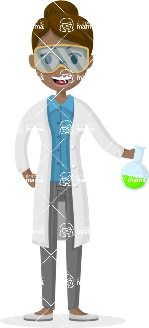 Woman in Uniform Vector Cartoon Graphics Maker - Female chemist