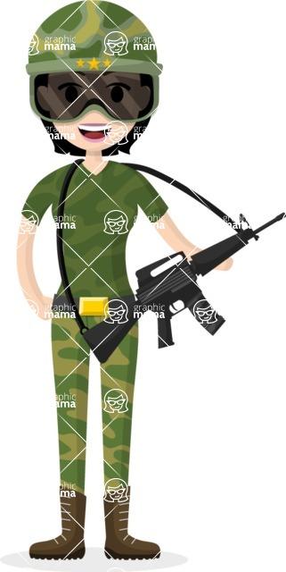 My Career: Vector Girls - Vector soldier woman