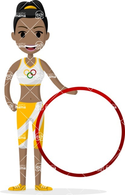 Woman in Uniform Vector Cartoon Graphics Maker - Gymnastic girl