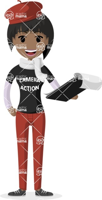 Woman in Uniform Vector Cartoon Graphics Maker - Curator lady