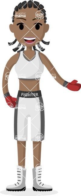 My Career: Vector Girls - Female boxer