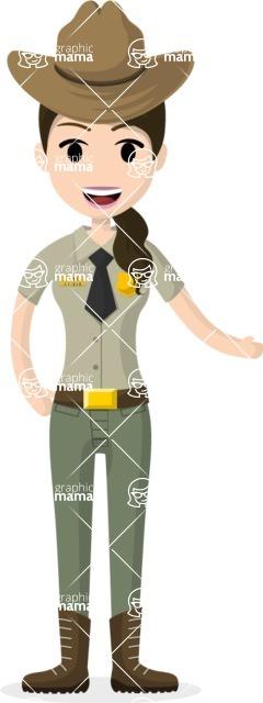 Woman in Uniform Vector Cartoon Graphics Maker - Policewoman