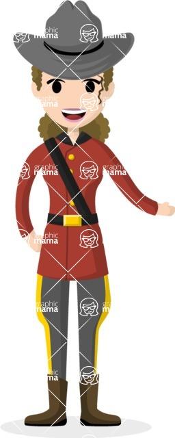 Woman in Uniform Vector Cartoon Graphics Maker - Ranger woman
