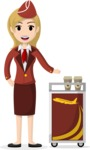 My Career: Vector Girls - Blonde stewardess serving refreshments