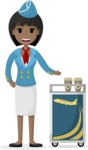 My Career: Vector Girls - Stewardess serving drinks