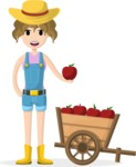 My Career: Vector Girls - Farmer girl with fruits