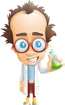 Professor Chemist Cartoon Scientist Vector Character AKA Professor Nuts-chmitz - Normal