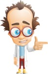 Professor Chemist Cartoon Scientist Vector Character AKA Professor Nuts-chmitz - Point2