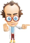 Professor Chemist Cartoon Scientist Vector Character AKA Professor Nuts-chmitz - Direct Attention2