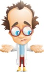 Professor Chemist Cartoon Scientist Vector Character AKA Professor Nuts-chmitz - Lost