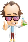 Professor Chemist Cartoon Scientist Vector Character AKA Professor Nuts-chmitz - Sunglasses2