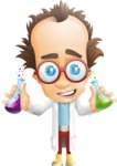 Professor Chemist Cartoon Scientist Vector Character AKA Professor Nuts-chmitz - Creative