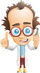 Professor Chemist Cartoon Scientist Vector Character AKA Professor Nuts-chmitz - Support