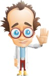 Professor Chemist Cartoon Scientist Vector Character AKA Professor Nuts-chmitz - Wave