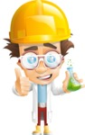 Professor Chemist Cartoon Scientist Vector Character AKA Professor Nuts-chmitz - Under Construction