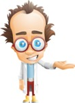 Professor Chemist Cartoon Scientist Vector Character AKA Professor Nuts-chmitz - Showcase