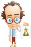 Professor Chemist Cartoon Scientist Vector Character AKA Professor Nuts-chmitz - Sign4