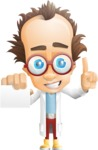 Professor Chemist Cartoon Scientist Vector Character AKA Professor Nuts-chmitz - Sign6