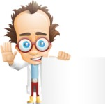 Professor Chemist Cartoon Scientist Vector Character AKA Professor Nuts-chmitz - Sign7