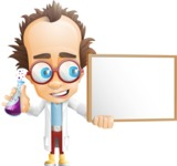 Professor Chemist Cartoon Scientist Vector Character AKA Professor Nuts-chmitz - Presentation1