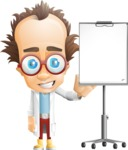 Professor Chemist Cartoon Scientist Vector Character AKA Professor Nuts-chmitz - Presentation3