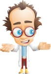 Professor Chemist Cartoon Scientist Vector Character AKA Professor Nuts-chmitz - Show2