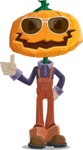 Farm Scarecrow Cartoon Vector Character AKA Peet Pumpkinhead - Being Cool