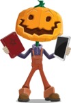 Farm Scarecrow Cartoon Vector Character AKA Peet Pumpkinhead - Choosing Between Modern and Oldschool