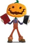 Farm Scarecrow Cartoon Vector Character AKA Peet Pumpkinhead - Choosing Between Modern and Oldschool