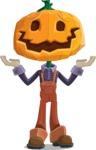 Farm Scarecrow Cartoon Vector Character AKA Peet Pumpkinhead - Feeling Sorry
