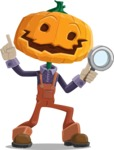 Farm Scarecrow Cartoon Vector Character AKA Peet Pumpkinhead - Searching