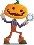 Farm Scarecrow Cartoon Vector Character AKA Peet Pumpkinhead - Searching