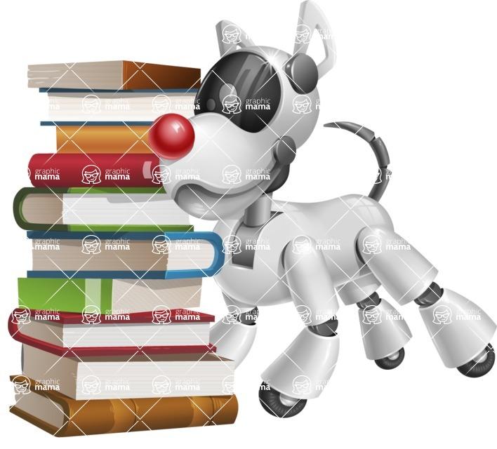 Artificial Intelligence Robot Dog Cartoon Vector Character AKA HERB - Books