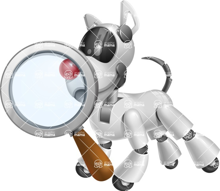 Artificial Intelligence Robot Dog Cartoon Vector Character AKA HERB - Search