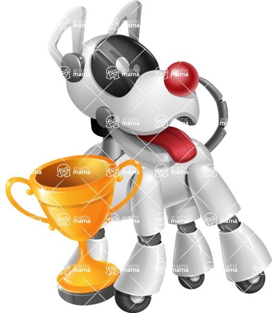 Artificial Intelligence Robot Dog Cartoon Vector Character AKA HERB - Cup