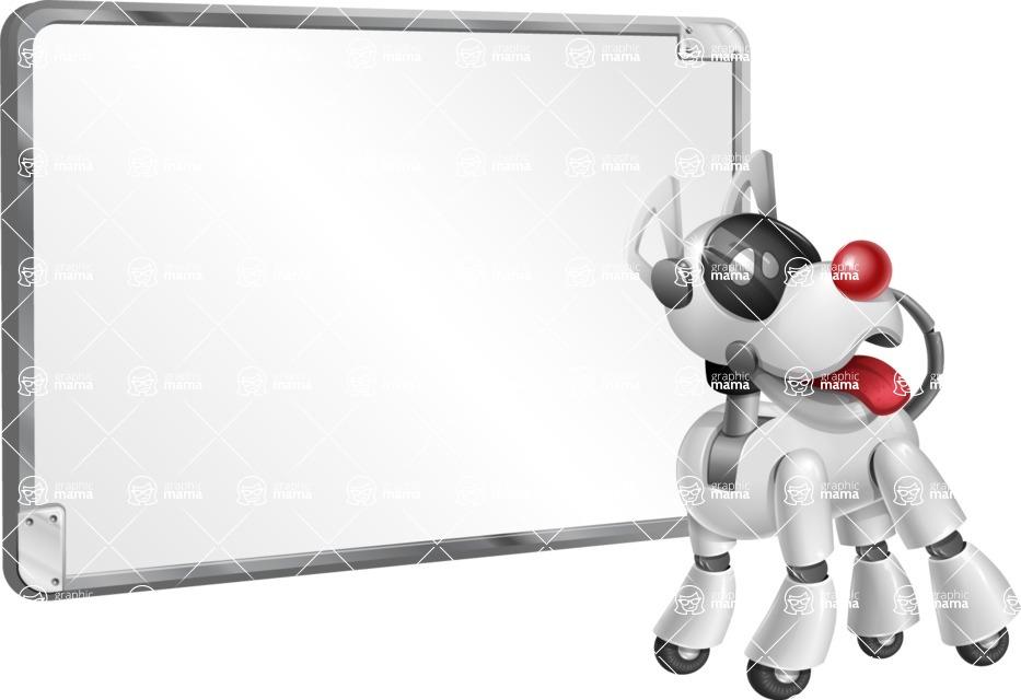 Artificial Intelligence Robot Dog Cartoon Vector Character AKA HERB - Presentation 1