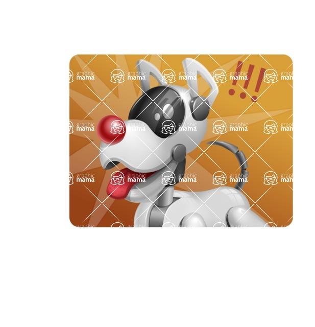 Artificial Intelligence Robot Dog Cartoon Vector Character AKA HERB - Shape1