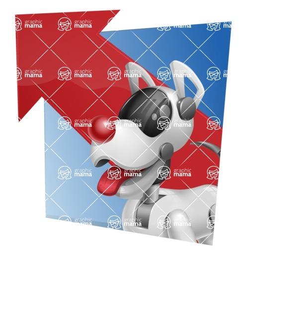 Artificial Intelligence Robot Dog Cartoon Vector Character AKA HERB - Shape3