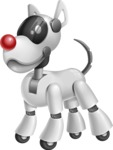 Artificial Intelligence Robot Dog Cartoon Vector Character AKA HERB - Normal