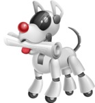 Artificial Intelligence Robot Dog Cartoon Vector Character AKA HERB - Newspaper
