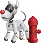 Artificial Intelligence Robot Dog Cartoon Vector Character AKA HERB - Fireplug
