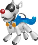 Artificial Intelligence Robot Dog Cartoon Vector Character AKA HERB - Super Dog