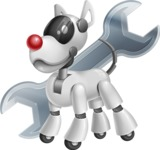 Artificial Intelligence Robot Dog Cartoon Vector Character AKA HERB - Repair