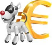 Artificial Intelligence Robot Dog Cartoon Vector Character AKA HERB - Euro