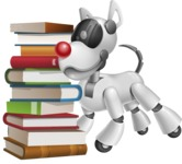 Artificial Intelligence Robot Dog Cartoon Vector Character AKA HERB - Books