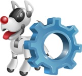 Artificial Intelligence Robot Dog Cartoon Vector Character AKA HERB - Gear