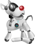 Artificial Intelligence Robot Dog Cartoon Vector Character AKA HERB - Under Construction