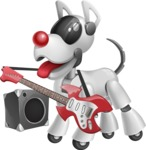 Artificial Intelligence Robot Dog Cartoon Vector Character AKA HERB - Music