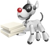 Artificial Intelligence Robot Dog Cartoon Vector Character AKA HERB - Delivery 1